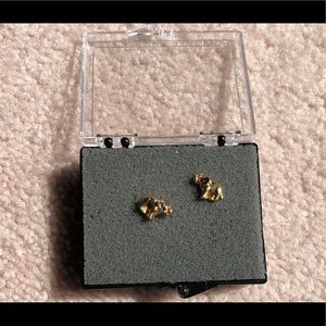 JUICY COUTURE gold elephant studs